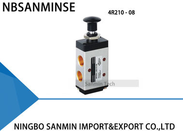 "China 3R / 4R Hand Draw Valve Manual Solenoid Valve G 1/8"" , 1/4"" , 3/8"" , 1/2"" Control supplier"