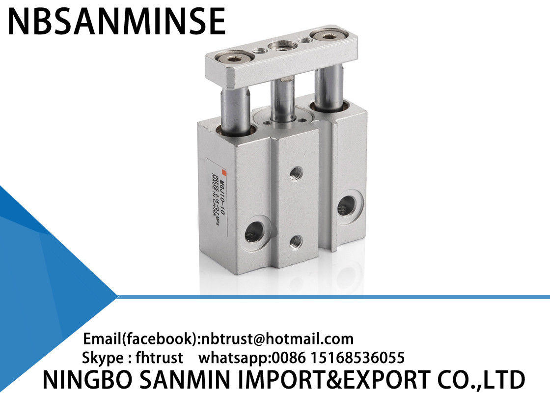 Double Acting Miniature Guided Pneumatic Cylinder 50 - 500 mm / s Piston Speed