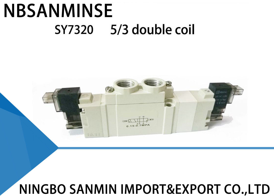 SY7000 Small Smc Solenoid Valve Manifold Mounted / Individually High  Reliability