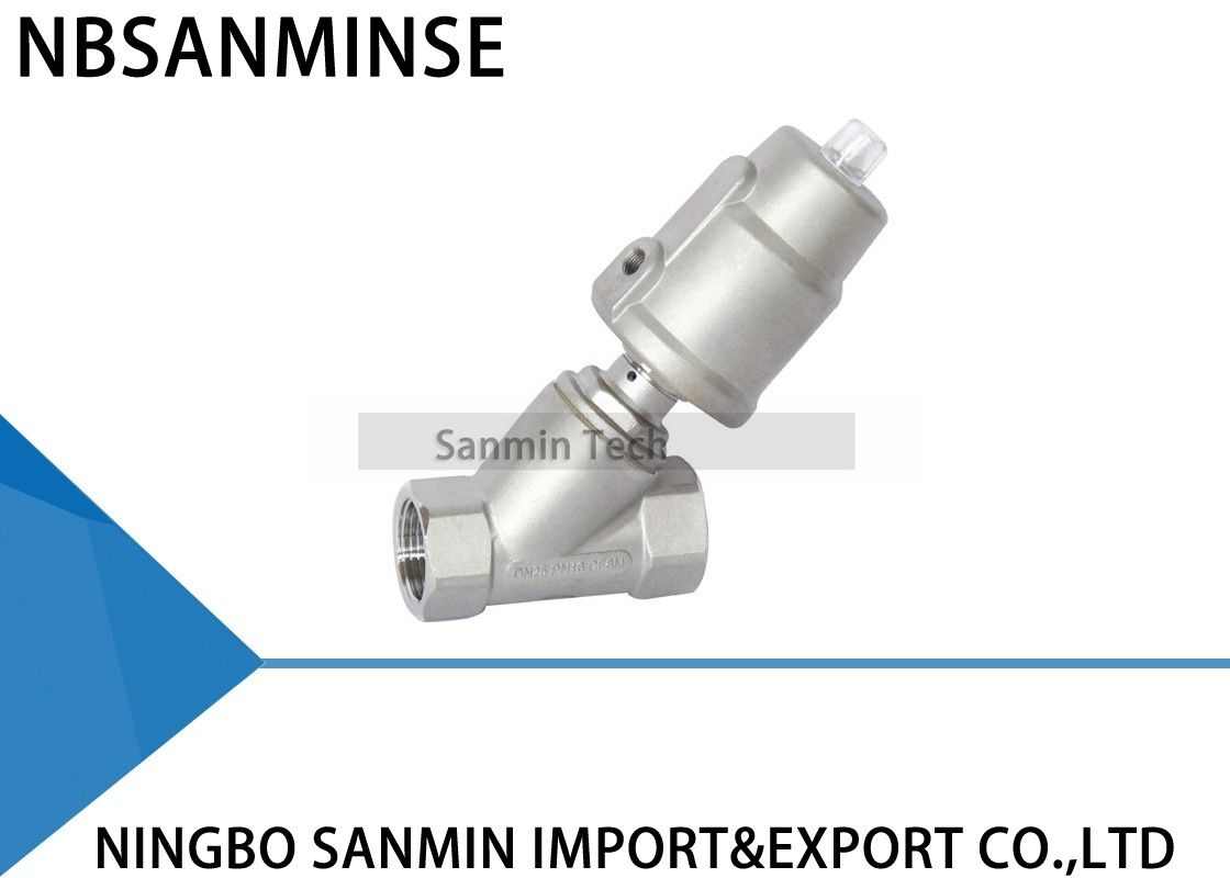 JDF700 Threaded Pneumatic Angle Seat Valve , Angle Type Control Valve