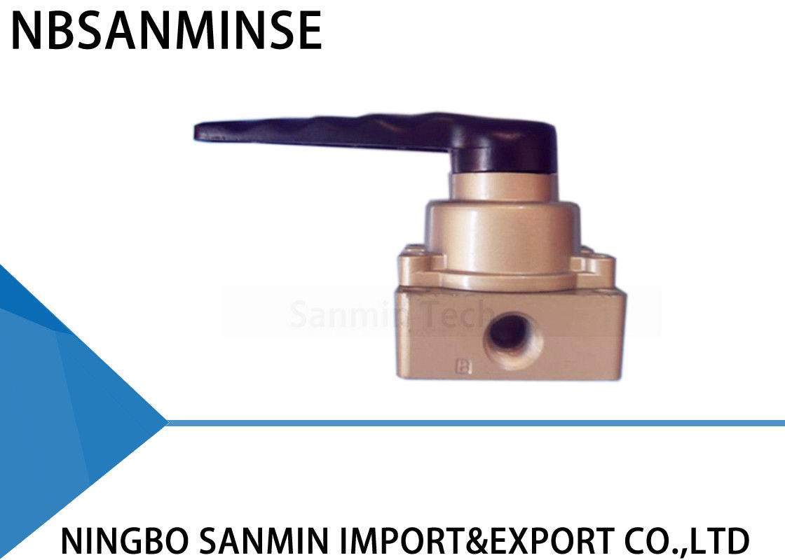 1/8 1/4 3/8 Drawing Pneumatic Mechanical Valve Hand Switching NBSANMINSE HV200-02 HV300-03 HV400-04