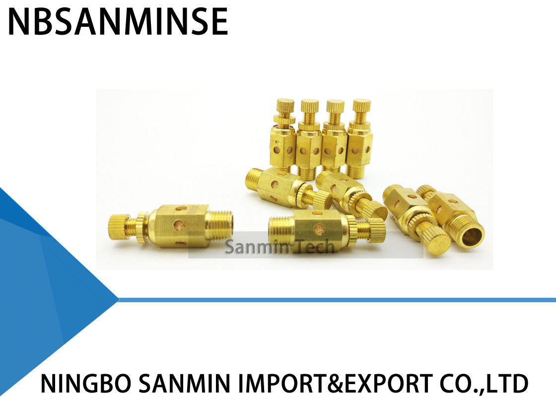 NBSANMINSE C Type Pneumatic Air Fittings Muffler Throttle Valve Pneumatic Brass Silencer