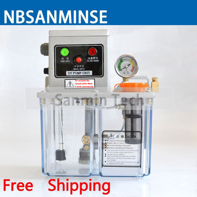 NBSANMINSE SDY2-32P Lubrication Pump 3 Liter 2 Mpa with Pressure switch level switch for Thin Oil lubrication system