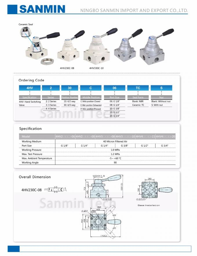 Hand Switching Valve Drawing Valve Air Valve Pneumatic Mechanical Valve G Thread 1/8 1/4 3/8 1/2 3/4