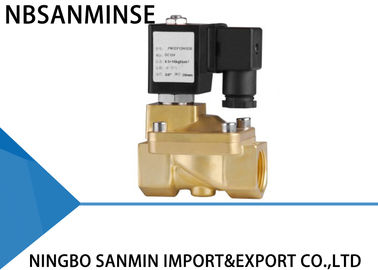 Custom PM 2 / 2 Way Brass Solenoid Valve , Latching Solenoid Valve For Gas