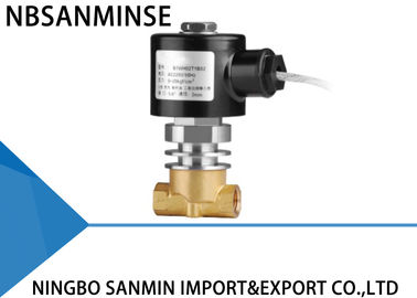 CO2 Liquid Steam Brass Solenoid Valve Normally Closed High / Low Temperature
