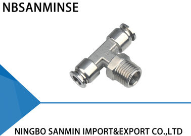 SSB Tee Air / Hydraulic Hose Fittings For Food Service / Chemical Industry