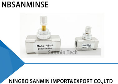 NBSANMINSE RE Flow Capacity Control Valve G Thread 1/8 1/4 3/8 1/2 Pneumatic Air Standard Type Control Valve
