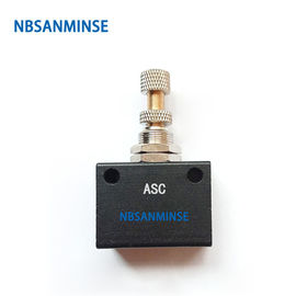 China NBSANMINSE ASC G1/8 1/4 3/8 1/2 Precision Flow Control Valve Pneumatic Air Valve Flow Adjusting Normal Temperature factory